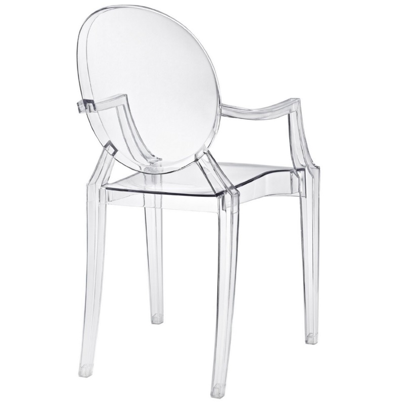 Charmant Louis Style Ghost Arm Chair