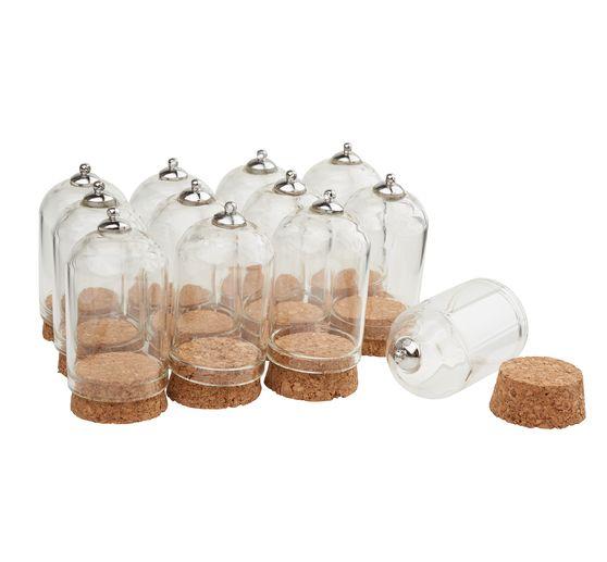 12 pendentifs cloches en verre avec bouchon liege gros acheteurs vbs