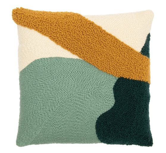 rico design punch needle set pillow mustard green