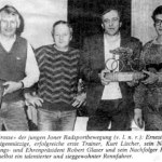 Ehrung im Januar 1986
