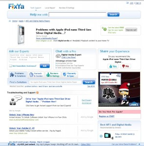 FixYa: Problems and Solutions for the Apple iPod Nano 3rd Generation
