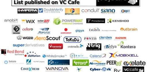 VC Cafe Israeli startups top 50