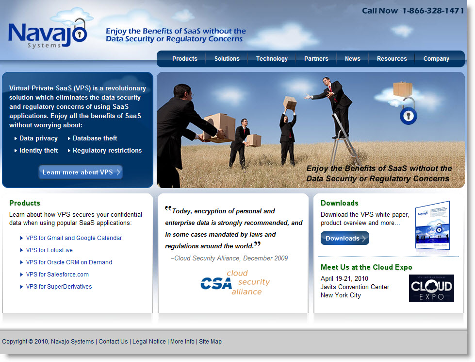 Navajo systems homepage