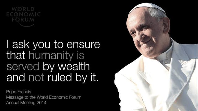 Pope Francis Davos WEF14