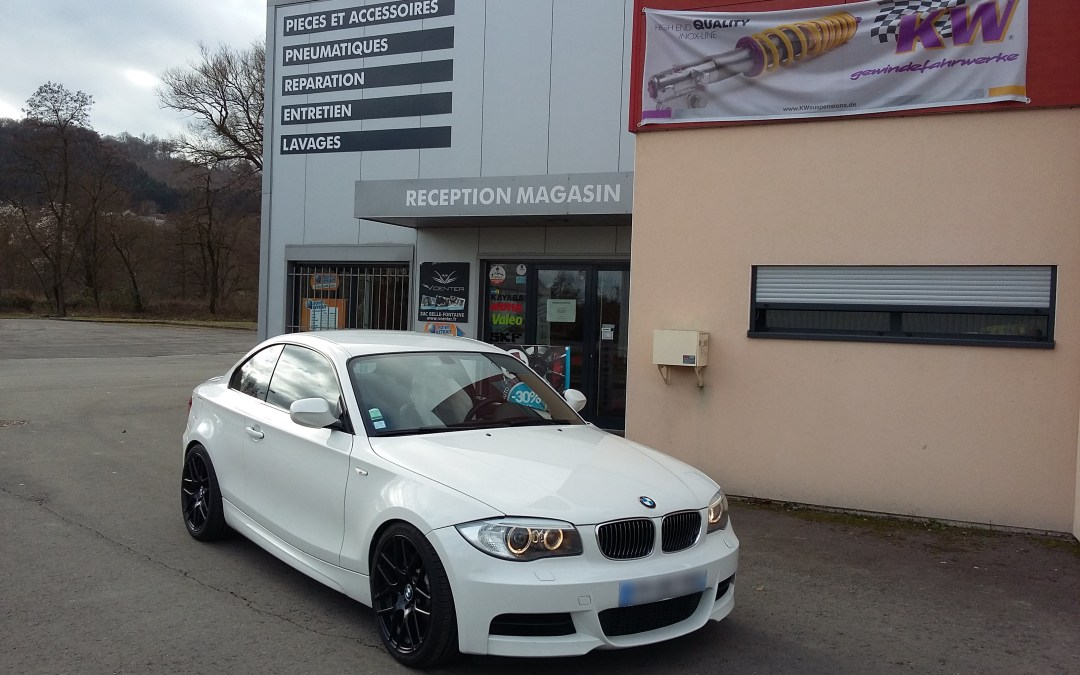 Préparation track day BMW 135i (KW, Supersprint…)