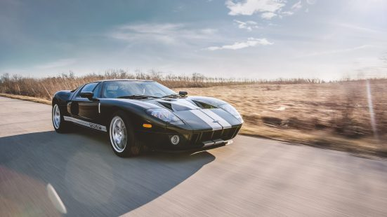 2005 Ford GT Black with Silver Stripe