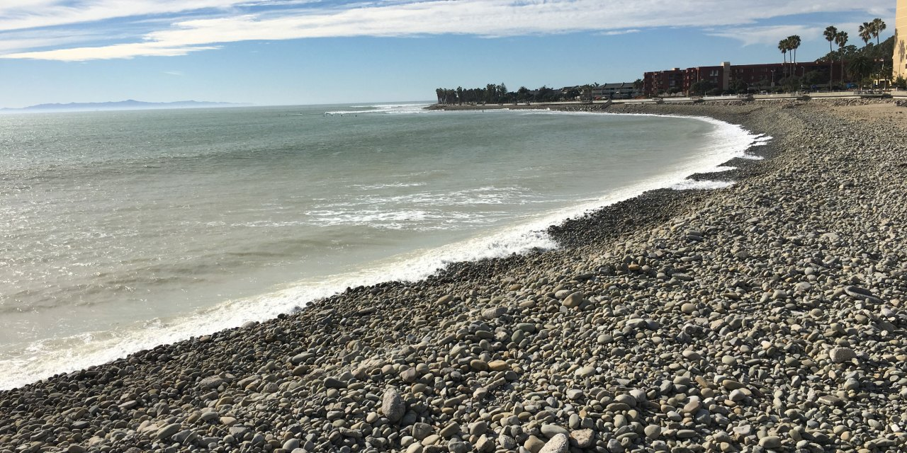 Ventura's cobble beach uncovered