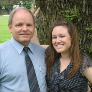 Heather Wondra with her father Dale Fisher, both of Ventura, at a family outing.