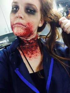 Caleigh Wiseman loves doing scary grotesque makeup.