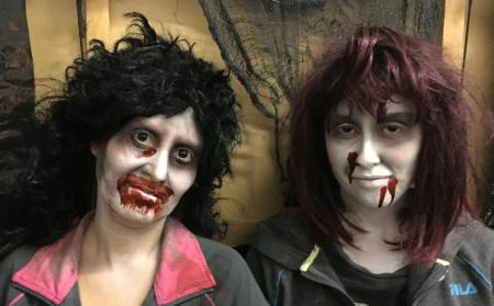 Becky and Lupe Rodriguez, daughter and mother, of Ventura, turn scaring people into a family affair