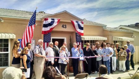A coalition of affordable housing advocates join U.S. Rep. Julia Brownley, D-Westlake Village, in August 2015 at the grand opening of Vince Street Transitional Home in Ventura. The Vince Street project was developed by Turning Point Foundation, providing 10 single room occupancy units for homeless veterans and on-site supportive services for the residents. The Ventura County Housing Trust Fund was an early lender on the project.