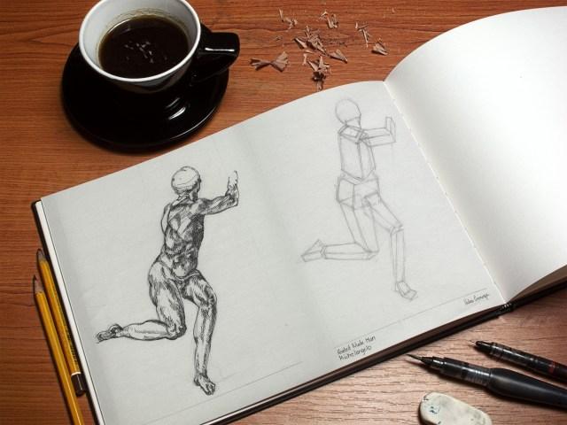 Michelangelo Seated Man Illustration Study