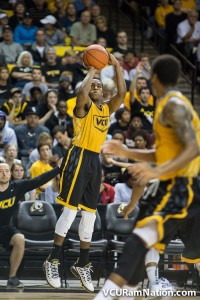 Melvin Johnson elevates to hit one of his five made 3-pointers on the evening.