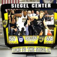 A mockup of VCU's new center-hung scoreboard taken from the official press release.