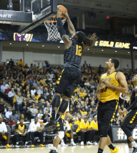 Mo Alie-Cox connects on what was just one of many dunks for team Black and their 85-76 win tonight.