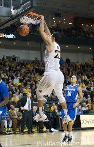 Ahmed Hamdy is one of several VCU bigs that will look to take advantage of an undersized Liberty Flames team tonight.