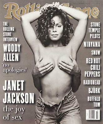 Janet Jackson gets bra assist in controversial '93 Rolling Stones cover.