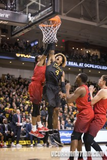 Justin Tillman led VCU with 18 points and 9 rebounds in the Rams' January defeat of Dayton.