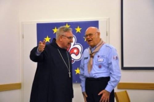 Hans Slanec (Österreich) und der Erzabt des Klosters