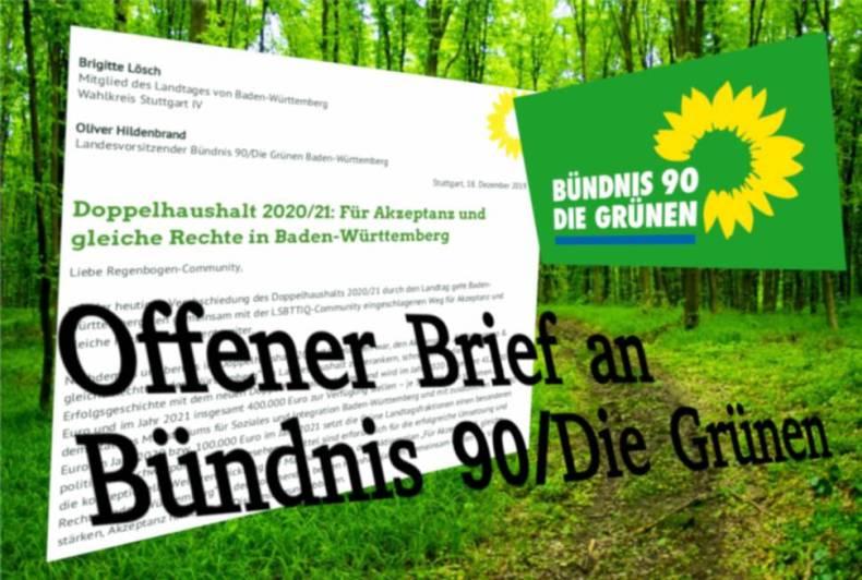 Offener Brief an Bündnis 90/Die Grünen im Landtag Baden-Württemberg - Für mehr Akzeptanz und gleiche Rechte in Baden-Württemberg 2