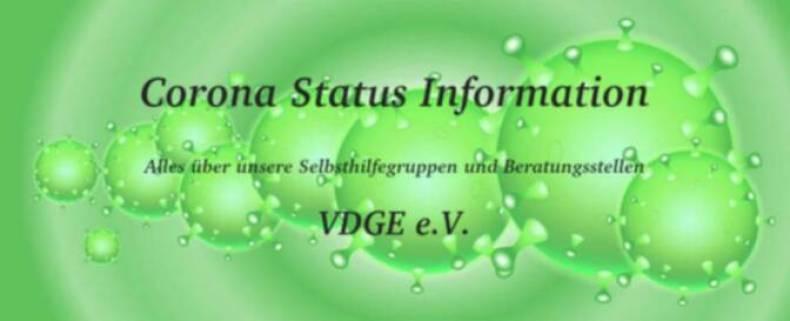 Corona Status Information - Alles über unsere Selbsthilfegruppen und Beratungsstellen