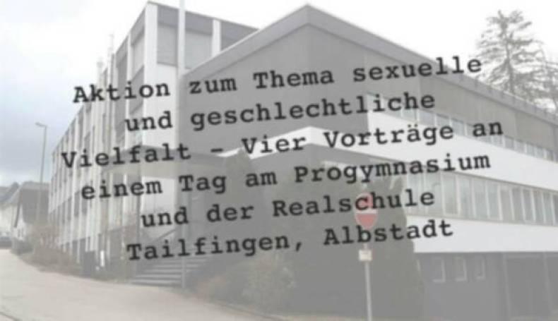 Aktion der Vielfalt - Vier Vorträge an einem Tag am Progymnasium und der Realschule Tailfingen, Albstadt