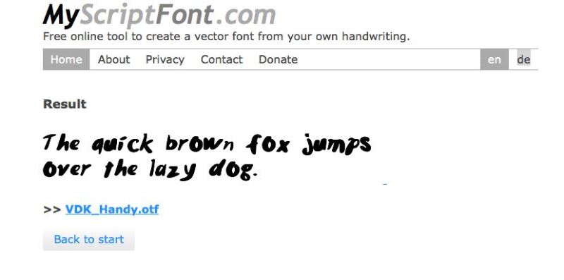 myscriptfont.com example font.