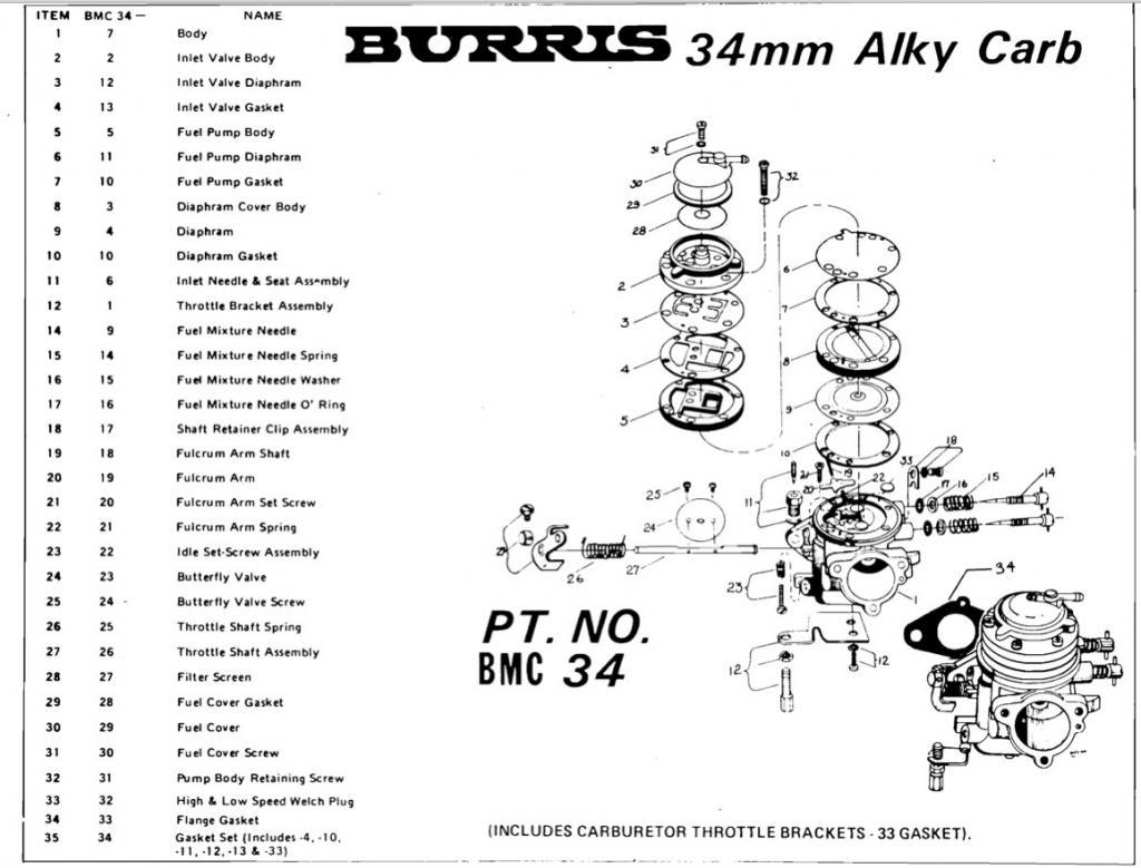 Vintage Mikuni Carb Parts