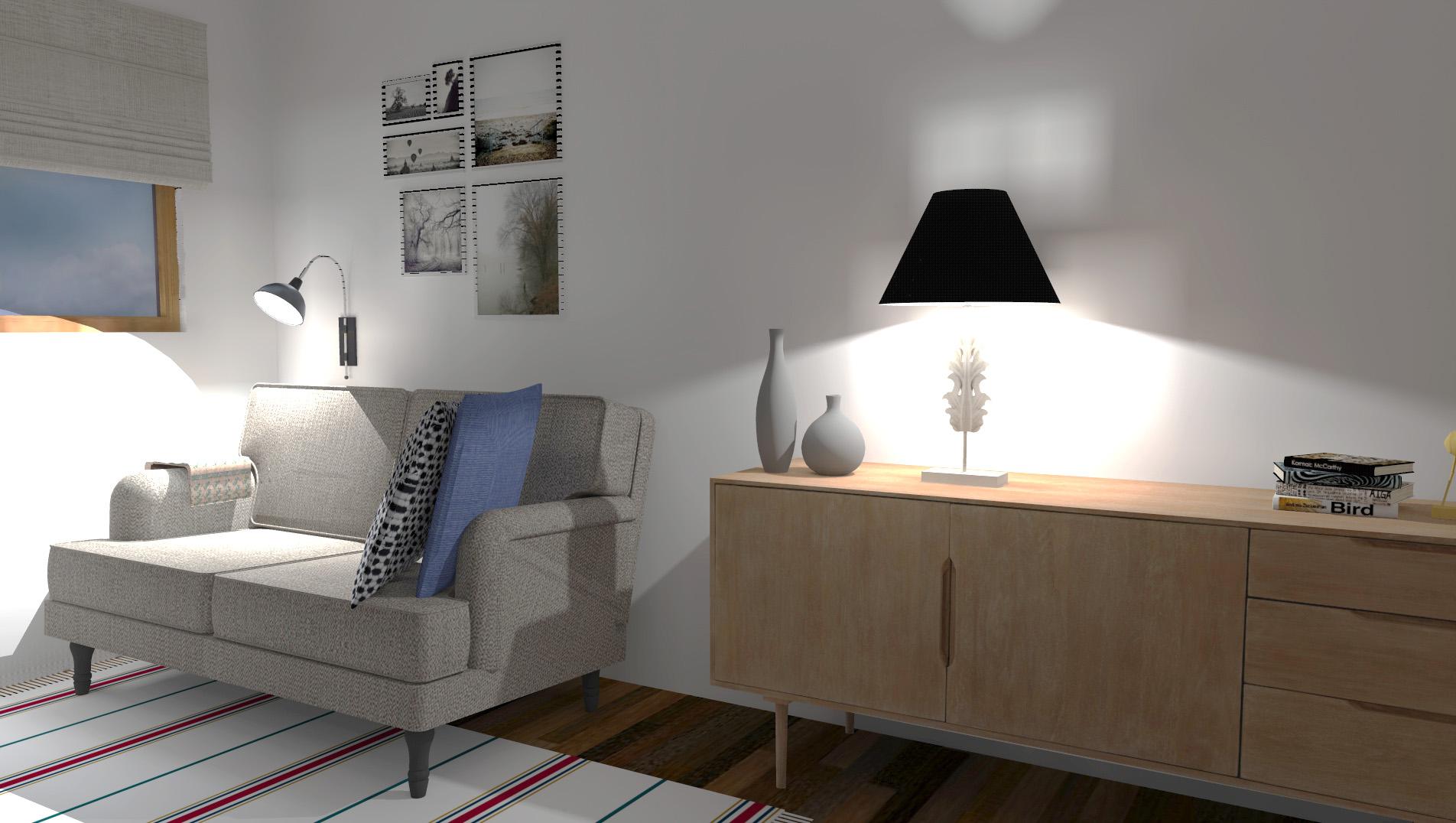 Nordico ed economico per un soggiorno contemporaneo ma con for Design economico