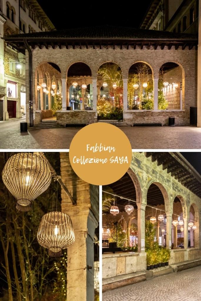 Salone del Mobile di Milano 2019 immagini in esterno della lampada a sospensione in vetro Saya