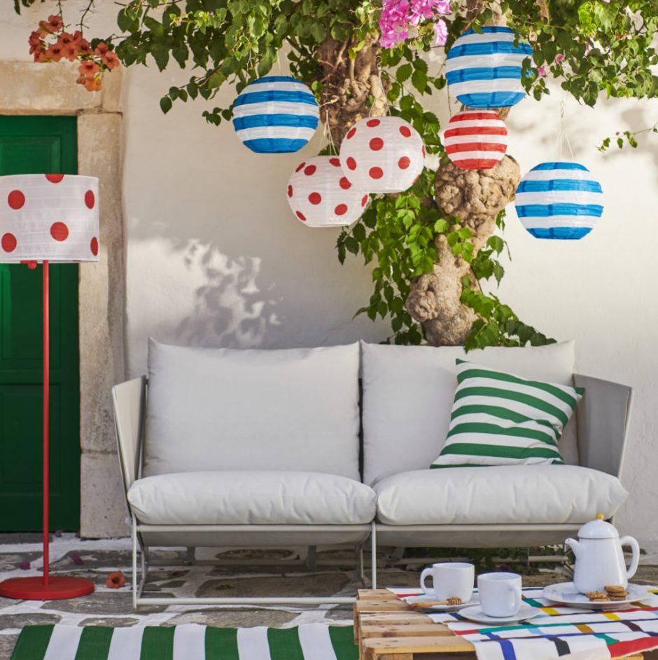 arredare la terrazza con Ikea e la collezione Sommar