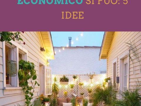 arredare una terrazza in modo economico