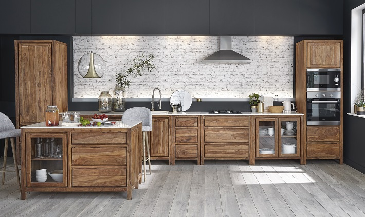 consiglio per l'illuminazione della cucina rustica