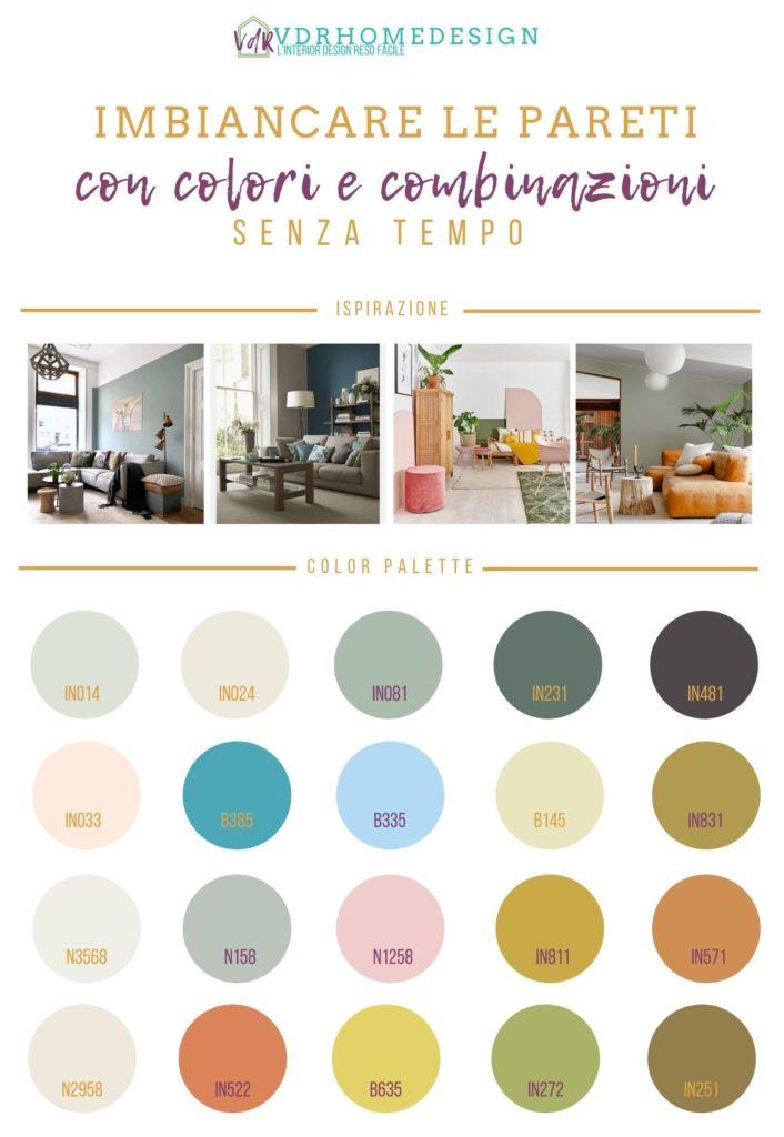 imbiancare casa colori e abbinamenti di tendenza in un infografica