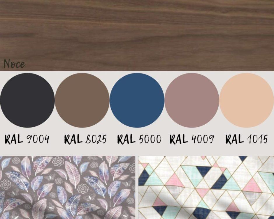 schemi di colore con il noce