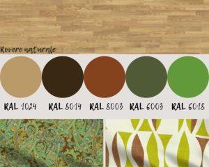 colori per imbiancare casa per rovere naturale e verde