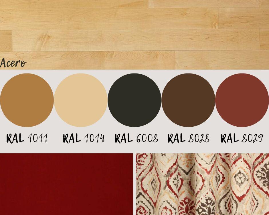 colori per imbiancare casa: acero e rosso
