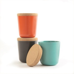 Curated-Pieces-Large-Bamboo-Storage-Canister-Set-Orange-Black-and-Teal