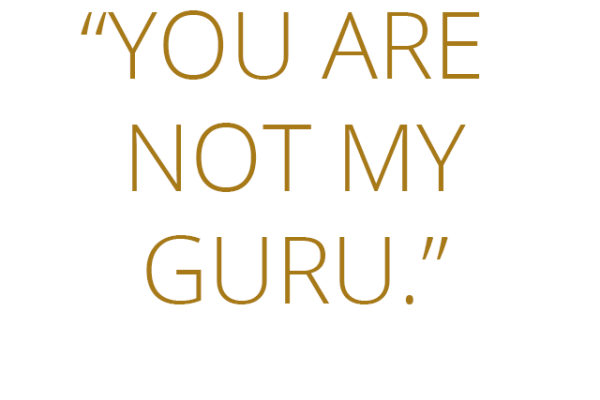 You are not my guru - Tony Robbins
