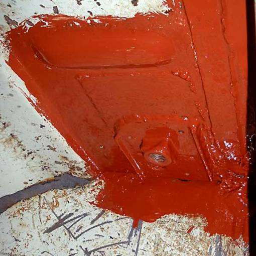 Post repair initial protection with a coat of Red Oxide Primer
