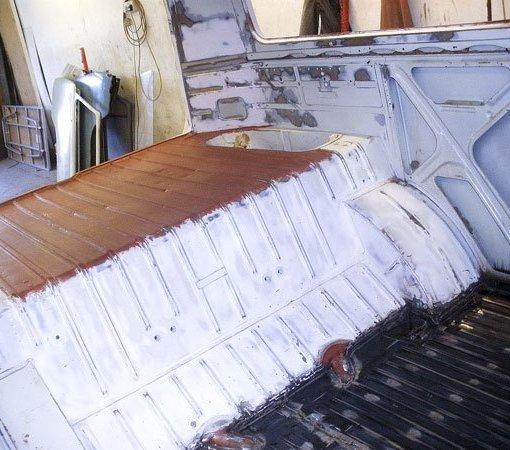 Rear bulkhead was in better shape