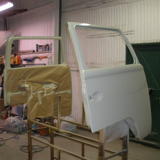 then the outside gets sprayed L87 Pearl White to finish off