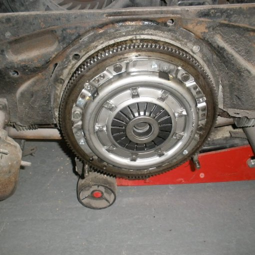 new clutch kit fitted and ready to go