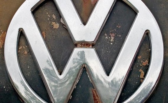 The iconic Volkswagen VW front badge