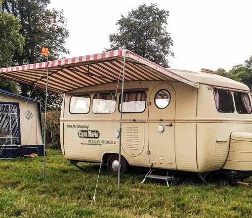 fantastic vintage Westfalia caravan and awning
