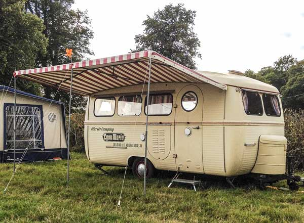 fantastic vintage Westfalia caravan and awning