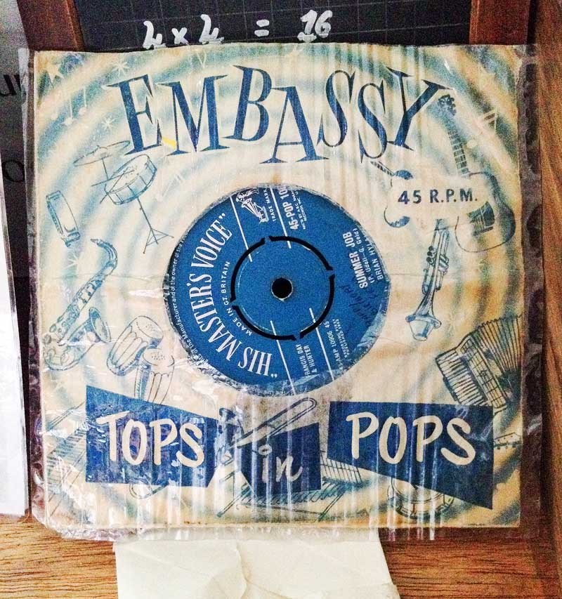 """before the days of mp3's, the vintage 45 rpm 6"""" single"""