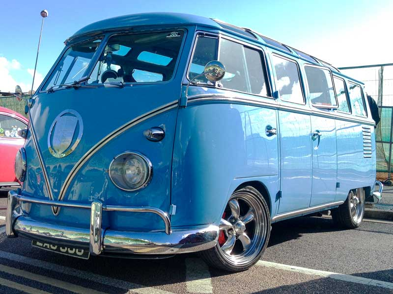 some serious engineering went into this Porsche powered bus