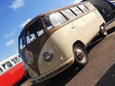 beautiful Barndoor bus with Westfalia Mosaik interior… simply stunning!