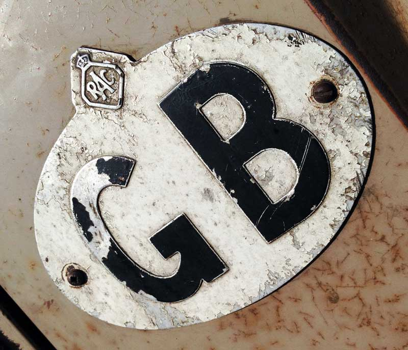 aged to perfection, a vintage GB sign